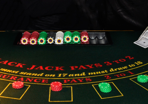 Customised casino blackjack chips